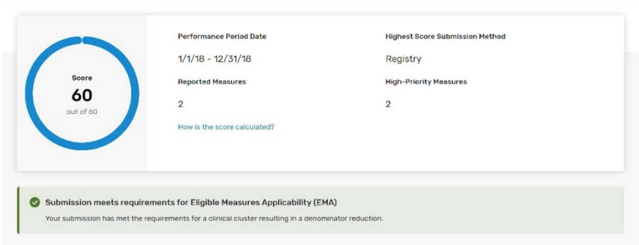 Eligible Measure Applicability (EMA)